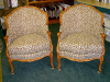 French Provincial Chairs with leopard print