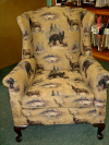 Novelty Print tapestry Chair