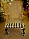 Wing chair-During restoration