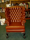 Wing Chair-After tufted restoration