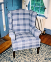 Wing chair-slipcovered